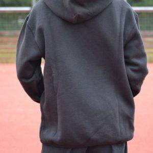 Legendární mikina s kapucí, černá, záda