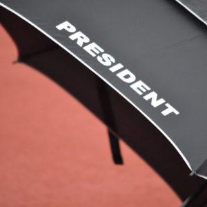 Maxi deštník PRESIDENT, detail nápisu